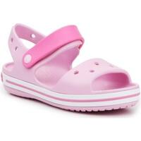 Sko Pige Sandaler Crocs Crocband Sandal Kids12856-6GD pink