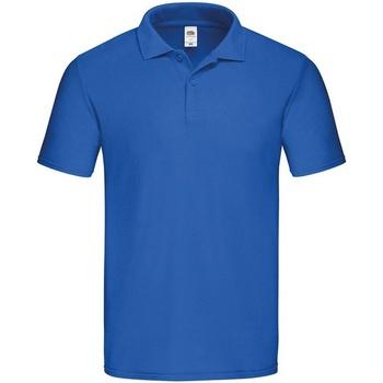 textil Herre Polo-t-shirts m. korte ærmer Fruit Of The Loom  Royal Blue
