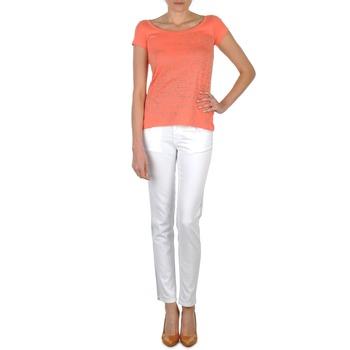 textil Dame Smalle jeans Calvin Klein Jeans JEAN BLANC BORDURE ARGENTEE Hvid