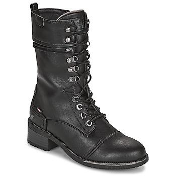 Sko Dame Chikke støvler Mustang 1402501 Sort