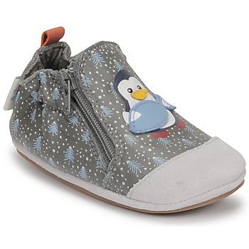 Sko Dreng Babytøfler Robeez BLUE PINGUINS Grå