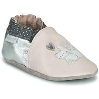 Sko Pige Babytøfler Robeez CAT FRIENDS Pink / Sølv