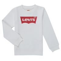 textil Dreng Sweatshirts Levi's BATWING CREWNECK SWEATSHIRT Hvid