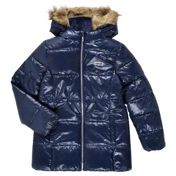textil Pige Dynejakker Levi's FUR PUFFER Marineblå