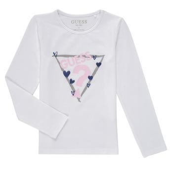 textil Pige Langærmede T-shirts Guess MONICA Hvid