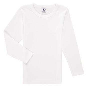 textil Dreng Langærmede T-shirts Petit Bateau KELOMA Hvid