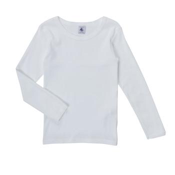 textil Pige Langærmede T-shirts Petit Bateau FATRE Hvid