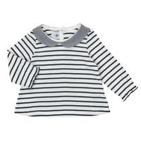 textil Pige Langærmede T-shirts Petit Bateau HOLINU Hvid / Blå