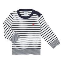 textil Dreng Langærmede T-shirts Petit Bateau IGRAE Hvid / Blå