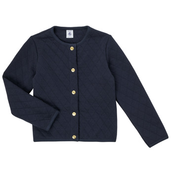textil Pige Veste / Cardigans Petit Bateau COLYNNE Blå