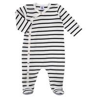 textil Børn Pyjamas / Natskjorte Petit Bateau ONZER Hvid / Marineblå