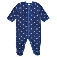 textil Dreng Pyjamas / Natskjorte Petit Bateau BENIR Blå / Hvid