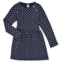 textil Pige Korte kjoler Petit Bateau KARREMA Blå / Hvid