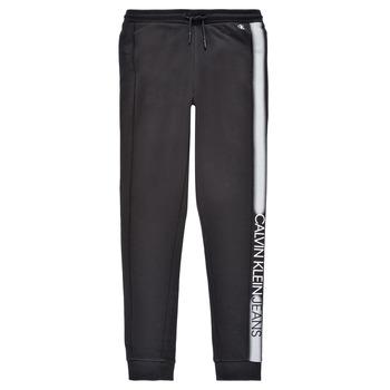 textil Dreng Træningsbukser Calvin Klein Jeans RESPIRA Sort