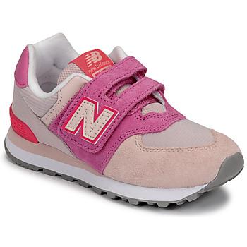 Sko Pige Lave sneakers New Balance 574 Pink / Violet