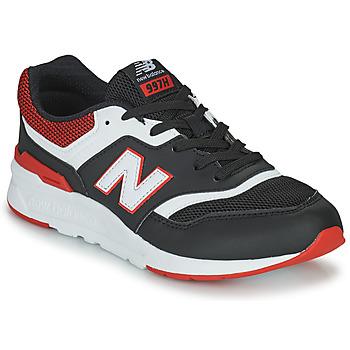 Sko Dreng Lave sneakers New Balance 997 Sort / Rød