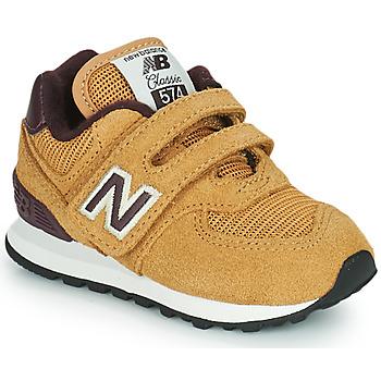 Sko Dreng Lave sneakers New Balance 574 Brun