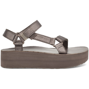 Sko Dame Sandaler Teva Flatform Universal Leather Women's Metallic Bronze