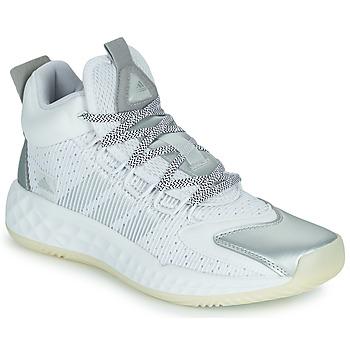 Sko Basketstøvler adidas Performance PRO BOOST MID Hvid / Sølv