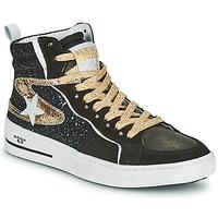 Sko Dame Høje sneakers Semerdjian MARAL Sort / Guld