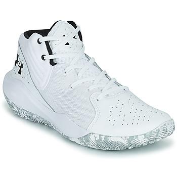 Sko Herre Basketstøvler Under Armour JET '21 Hvid / Hvid