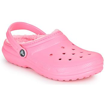 Sko Børn Træsko Crocs CLASSIC LINED CLOG K Pink