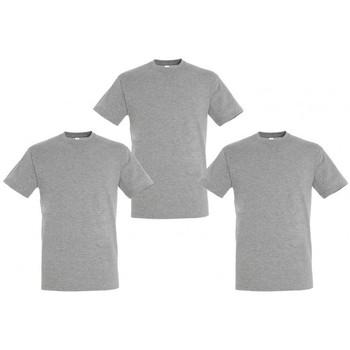 T-shirts m. korte ærmer Sols  PACK 3 CAMISETAS GRISES COTTON