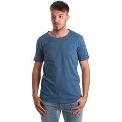 textil Herre T-shirts & poloer Gaudi 911BU64027 Blå