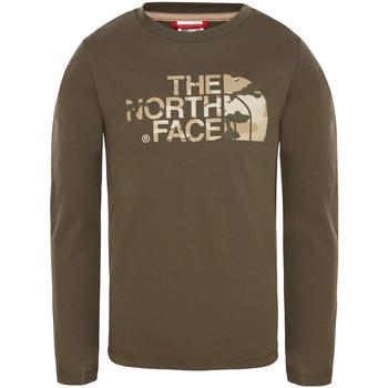 textil Børn T-shirts & poloer The North Face T93S3B Grøn