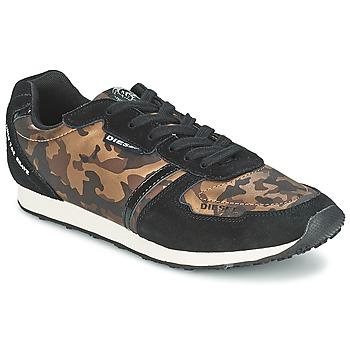 Sko Dame Lave sneakers Diesel CAMOUFLAGE Brun