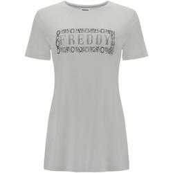 textil Dame T-shirts m. korte ærmer Freddy S1WALT2 hvid