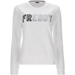 textil Dame Sweatshirts Freddy S1WCLS4 hvid