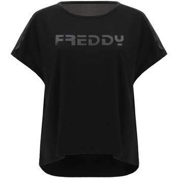 textil Dame T-shirts m. korte ærmer Freddy S1WTBT3 Sort