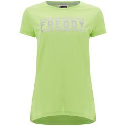 textil Dame T-shirts m. korte ærmer Freddy S1WCLT2 Grøn