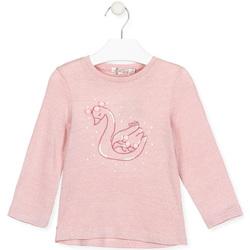 textil Pige Langærmede T-shirts Losan 026-1796AL Lyserød