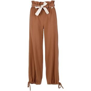 textil Dame Løstsiddende bukser / Haremsbukser Café Noir JP6170 Brun