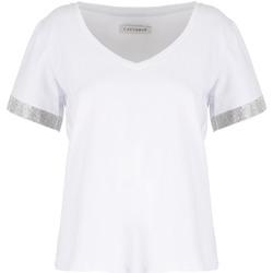 textil Dame T-shirts m. korte ærmer Café Noir JT6490 hvid