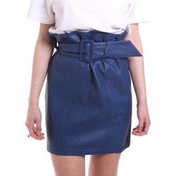 textil Dame Nederdele Federica Tosi FTE20GO036.0VPELLE Blå
