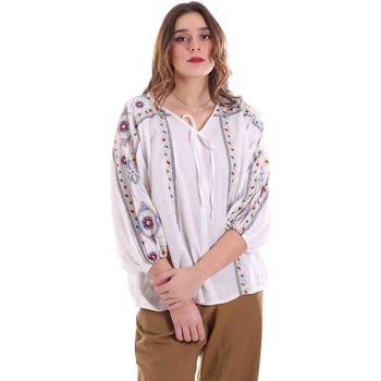 textil Dame Toppe / Bluser Alessia Santi 011SD45039 hvid
