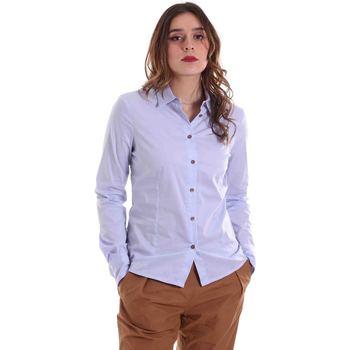 textil Dame Skjorter / Skjortebluser Alessia Santi 011SD45049 Blå