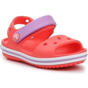 Sko Pige Sandaler Crocs Crocband Sandal Kids 12856-6SL orange, purple