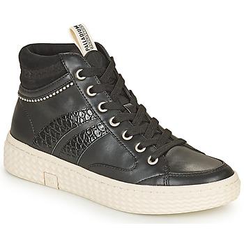 Sko Dame Høje sneakers Palladium Manufacture TEMPO 03 SYN Sort