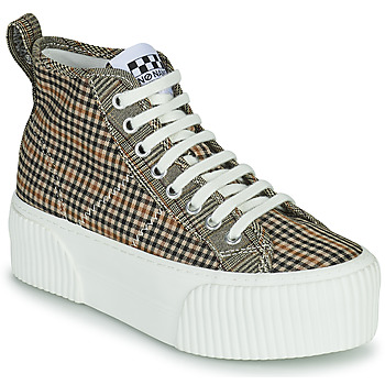 Sko Dame Høje sneakers No Name IRON MID Brun