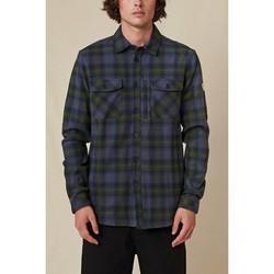 textil Herre Skjorter m. lange ærmer Globe Chemise  Wanderer Shacket bleu/vert