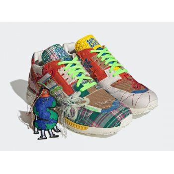 Sko Lave sneakers adidas Originals ZX 8000 x Sean Wotherspoon Superearth Off-White/Blue Bird/Red