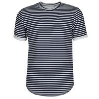 textil Herre T-shirts m. korte ærmer Yurban ORICO Marineblå / Hvid