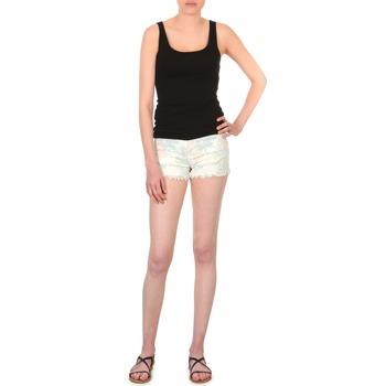 textil Dame Shorts School Rag SELENA FLOWERS Hvid / Trykt / Blomstret