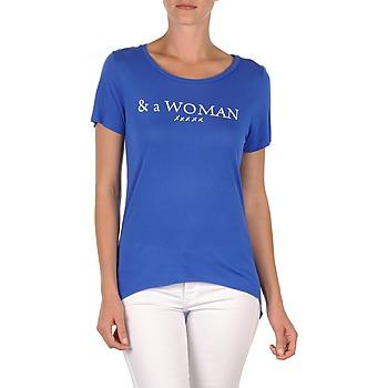 textil Dame T-shirts m. korte ærmer School Rag TEMMY WOMAN Blå