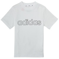 textil Dreng T-shirts m. korte ærmer adidas Performance ALBA Hvid