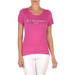 textil Dame T-shirts m. korte ærmer School Rag TEMMY WOMAN Violet